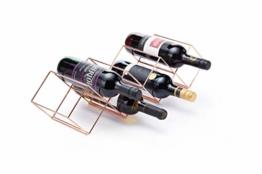 Bar Craft Weinregal, 58 x 14,5 x 14,5 cm, 7 Flaschen, stapelbar - 1