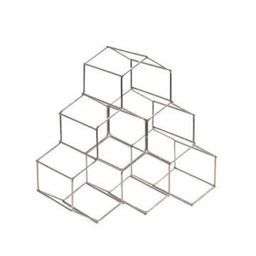 Compactor Kitchen ran8662Flaschenregal Circolare, Metall, Silber Satiniert, 28x 28x 14,5cm - 1