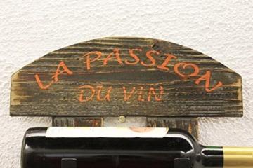 DanDiBo Weinregal Wandregal 5091 aus Holz 60 cm Weinbar Bar Flaschenhalter Flaschenregal - 2