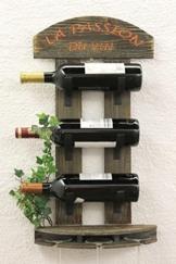 DanDiBo Weinregal Wandregal 5091 aus Holz 60 cm Weinbar Bar Flaschenhalter Flaschenregal - 1