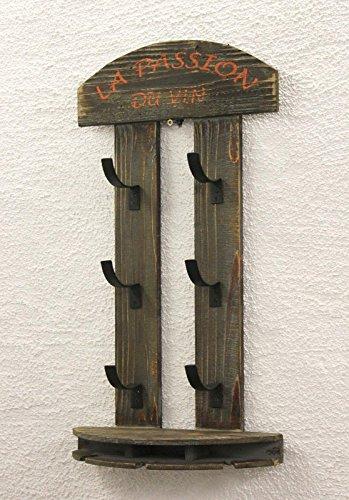 DanDiBo Weinregal Wandregal 5091 aus Holz 60 cm Weinbar Bar Flaschenhalter Flaschenregal - 4