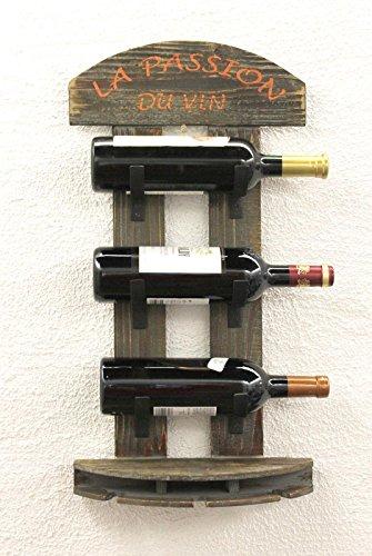 DanDiBo Weinregal Wandregal 5091 aus Holz 60 cm Weinbar Bar Flaschenhalter Flaschenregal - 6