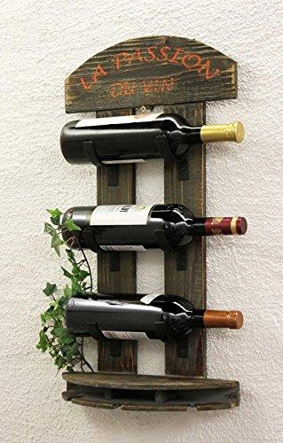 DanDiBo Weinregal Wandregal 5091 aus Holz 60 cm Weinbar Bar Flaschenhalter Flaschenregal - 7