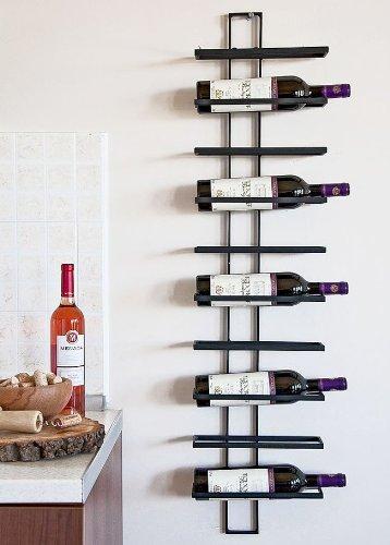 DanDiBo Weinregal Wandregal Dies 116cm aus Metall für 10 Flaschen Flaschenständer Flaschenhalter 11699 - 2