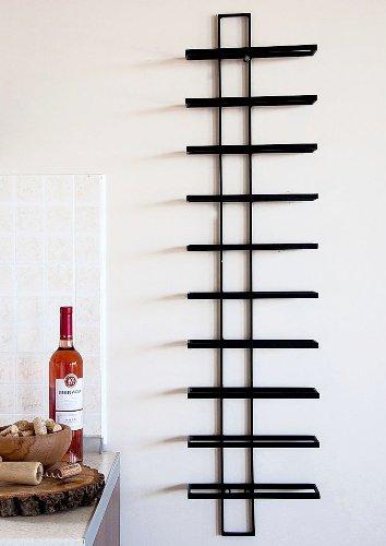 DanDiBo Weinregal Wandregal Dies 116cm aus Metall für 10 Flaschen Flaschenständer Flaschenhalter 11699 - 3
