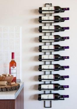 DanDiBo Weinregal Wandregal Dies 116cm aus Metall für 10 Flaschen Flaschenständer Flaschenhalter 11699 - 1