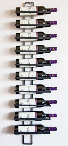 DanDiBo Weinregal Wandregal Dies 116cm aus Metall für 10 Flaschen Flaschenständer Flaschenhalter 11699 - 4