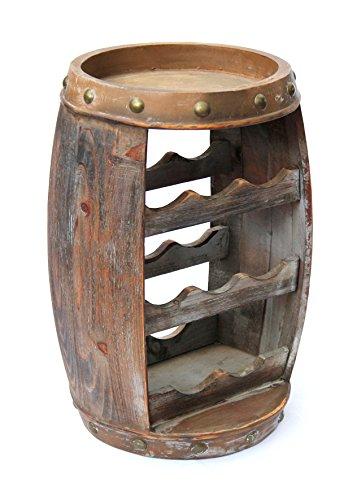DanDiBo Weinregal Weinfass Holz Flaschenständer 1555 Bar 50 cm für 8 FL. Regal Fass Holzfass - 2
