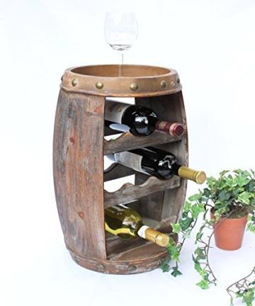 DanDiBo Weinregal Weinfass Holz Flaschenständer 1555 Bar 50 cm für 8 FL. Regal Fass Holzfass - 4