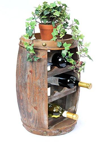 DanDiBo Weinregal Weinfass Holz Flaschenständer 1555 Bar 50 cm für 8 FL. Regal Fass Holzfass - 5
