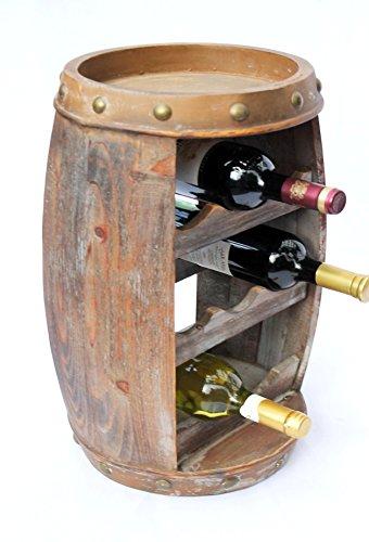 DanDiBo Weinregal Weinfass Holz Flaschenständer 1555 Bar 50 cm für 8 FL. Regal Fass Holzfass - 8