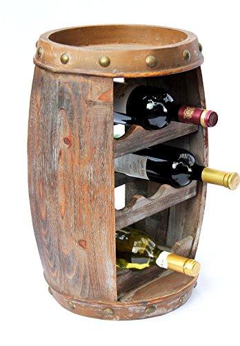 DanDiBo Weinregal Weinfass Holz Flaschenständer 1555 Bar 50 cm für 8 FL. Regal Fass Holzfass - 9