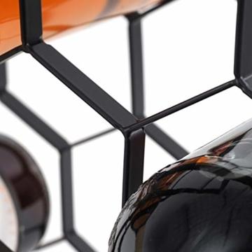 DESIGN DELIGHTS WEINREGAL WABE | Metall, 36x27x26 cm, 9 Flaschen, Schwarz | Weinflaschenhalter - 6