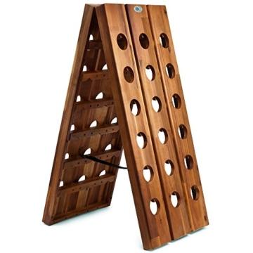 Deuba Weinregal aus Holz für 36 Flaschen Rüttelbrett Design Höhe 87cm, klappbar - Flaschenregal Flaschenständer Weinständer Weinflaschenhalter Rüttelpult - 3