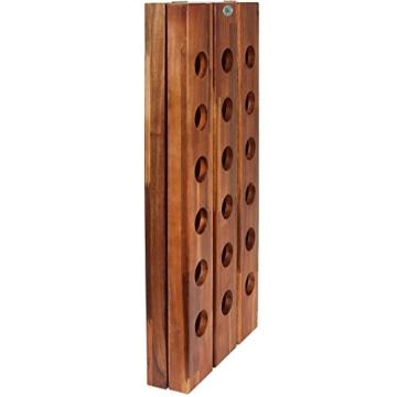 Deuba Weinregal aus Holz für 36 Flaschen Rüttelbrett Design Höhe 87cm, klappbar - Flaschenregal Flaschenständer Weinständer Weinflaschenhalter Rüttelpult - 4