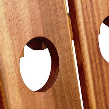 Deuba Weinregal aus Holz für 36 Flaschen Rüttelbrett Design Höhe 87cm, klappbar - Flaschenregal Flaschenständer Weinständer Weinflaschenhalter Rüttelpult - 5