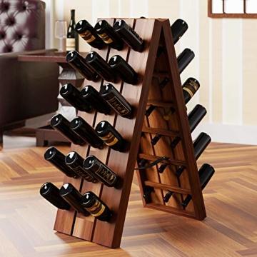Deuba Weinregal aus Holz für 36 Flaschen Rüttelbrett Design Höhe 87cm, klappbar - Flaschenregal Flaschenständer Weinständer Weinflaschenhalter Rüttelpult - 7