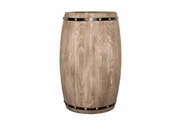 DuNord Design Weinregal Fass Regal Holz 14 Flaschen 60cm Flaschenregal Natur Tannenholz Massiv - 2