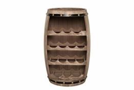 DuNord Design Weinregal Fass Regal Holz 14 Flaschen 60cm Flaschenregal Natur Tannenholz Massiv - 1