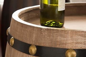 DuNord Design Weinregal Fass Regal Holz 14 Flaschen 60cm Flaschenregal Natur Tannenholz Massiv - 4