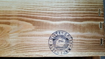 Geflammtes Weinregal für bis zu 16 Flaschen 40x40x27 cm Kistenkolli Altes Land Wein Regal   Flaschenregal - 2