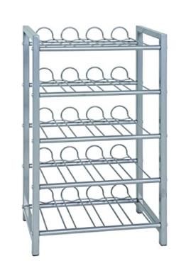 Haku-Möbel Flaschenständer, Aluminium, 34 x 22 x 59 cm - 1