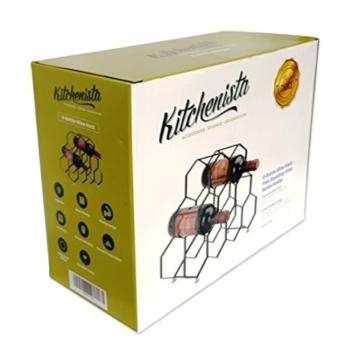 Kitchenista 9 Flaschen Weinregal Ständer - freistehender Weinflaschenhalter - Zeitgenössisches einzigartiges Design Keine Montage erforderlich - 2