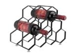 Kitchenista 9 Flaschen Weinregal Ständer - freistehender Weinflaschenhalter - Zeitgenössisches einzigartiges Design Keine Montage erforderlich - 1