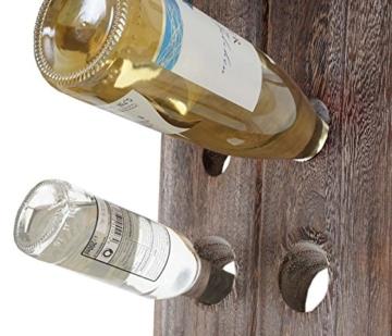 Mendler Deko-Rüttelbrett, Flaschenregal Weinregal für 20 Flaschen, Shabby-Look Vintage ~ braun - 8