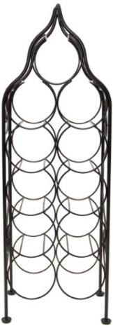 Sloane & Ebury Piedmont Weinregal, Eisen, groß, für 11 Weinflaschen, antikes Bronze-Design - 1