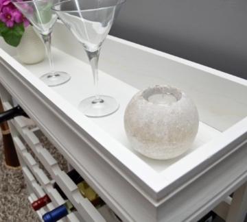 ts-ideen Weinregal weiß für 24 Flaschen Flaschenregal weißes Holz Regal Weinablage Board - 4