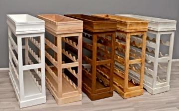 ts-ideen Weinregal weiß für 24 Flaschen Flaschenregal weißes Holz Regal Weinablage Board - 8