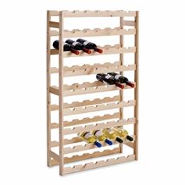 Zeller 13165 Flaschenregal für 54 Flaschen, Kiefer / 67,5 x 25 x 118 - 1