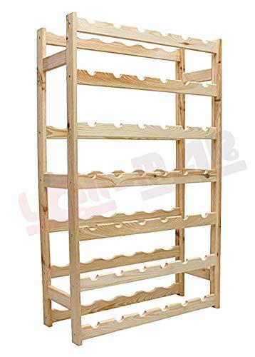 MODO24 Weinregal, Holz, unbehandelt, 63 x 25 x 102 cm, 17-Einheiten - 3